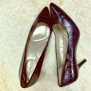 """Bandolino8.5 /2.5"""" Heel Faux Snake Skin Print Shoe"""